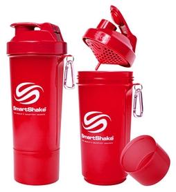 Шейкер 2-х камерный SmartShake Slim 500 мл neon red