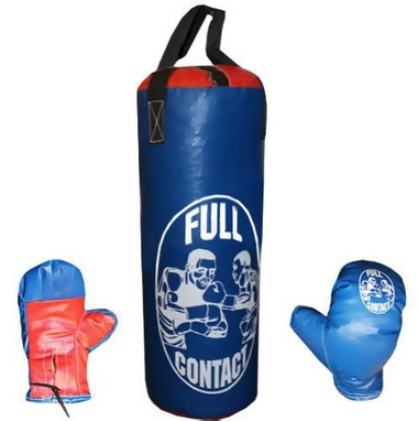 Набор боксерский детский Full Contact (39х14 cм) синий