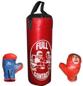 Набор боксерский детский Full Contact (39х14 cм) красный
