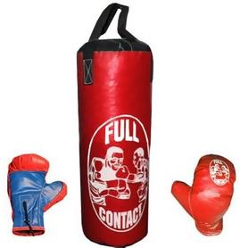 Набор боксерский детский Full Contact (42х18 cм) красный