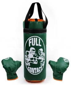 Набор боксерский детский Full Contact (42х18 cм) зеленый