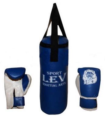 Набор боксерский детский Lev (40х15) синий