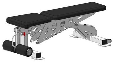 Скамья регулируемая с отрицательным углом Fit Way Factory Bridge Style A 202