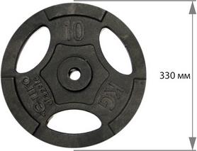 Фото 2 к товару Диск чугунный USA Style 10 кг с хватами - 26 мм