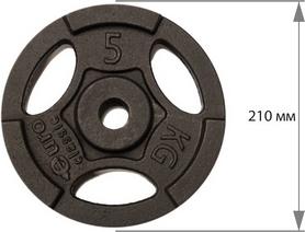 Фото 2 к товару Диск чугунный USA Style 5 кг с хватами - 26 мм