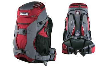 Рюкзак туристический Terra Incognita Nevado 40 красный/серый