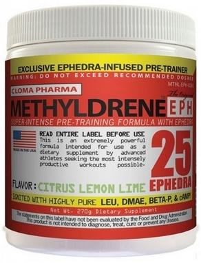 Энергетик+жиросжигатель Cloma Pharma Methyldrene EPH (270 г)