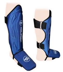 Защита для ног (голень+стопа) ZLT ZB-4214 синяя, размер - М - уцененная*