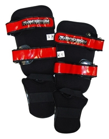 Фото 2 к товару Защита для ног (голень+стопа) Bad Boy Training Series 2.0 red
