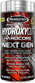 Жиросжигатель MuscleTech Hydroxycut Hardcore Next Gen (180 капсул)