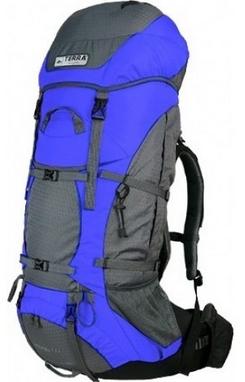 Рюкзак туристический Terra Incognita Titan 60 л синий/серый