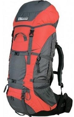 Рюкзак туристический Terra Incognita Titan 80 л оранжевый/серый