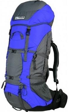 Рюкзак туристический Terra Incognita Titan 80 л синий/серый