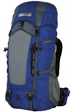 Рюкзак туристический Terra Incognita Action 45 л синий/серый