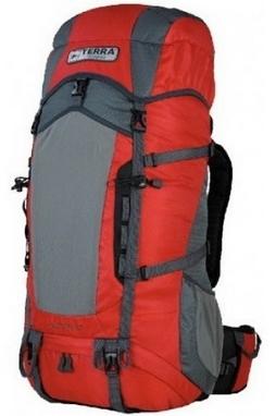 Рюкзак туристический Terra Incognita Action 45 л красный/серый
