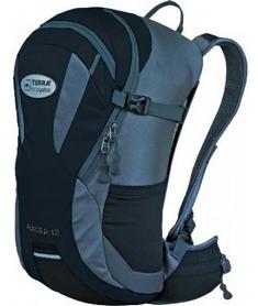 Рюкзак спортивный Terra Incognita Racer 12 л черный/серый