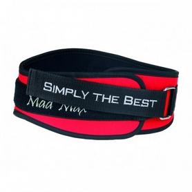 Пояс тяжелоатлетический нейлоновый Mad Max Sportswear MFB 421 красный