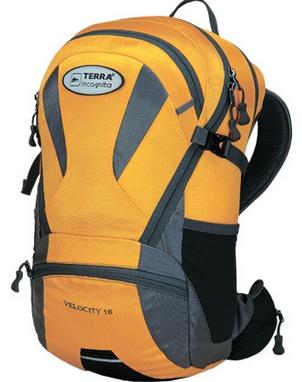 Рюкзак спортивный Terra Incognita Velocity 16 желтый/серый