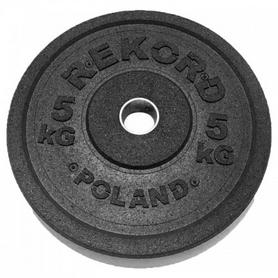 Фото 1 к товару Диск бамперный олимпийский 5 кг Rekord BP-5 - 51 мм