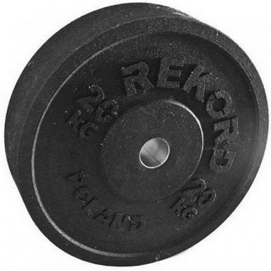 Диск бамперный олимпийский 20 кг Rekord BP-20 - 51 мм