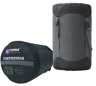 Компрессионный мешок Terra Incognita 33х22 см черный/серый