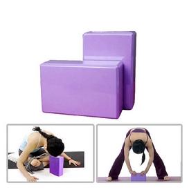 Фото 2 к товару Йога-блок Pro Supra 15,5x7,5 см розовый