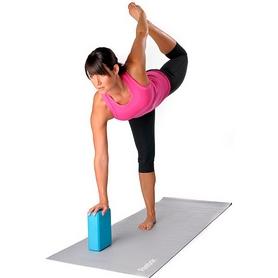Фото 3 к товару Йога-блок Pro Supra 15,5x7,5 см розовый