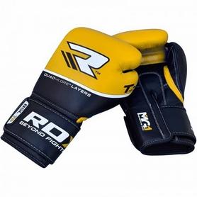 Фото 2 к товару Перчатки боксерские RDX Quad Kore Yellow