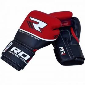 Фото 2 к товару Перчатки боксерские RDX Quad Kore Red