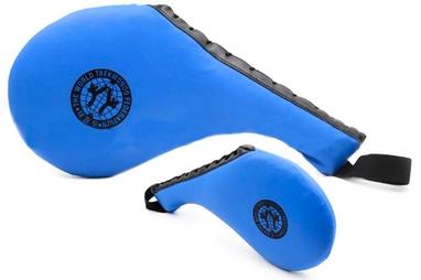 Ракетка (хлопушка) для тхэквондо одинарная Combat Budo BO-4747 синяя