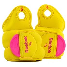 Утяжелители-манжеты Reebok 2 шт по 1 кг