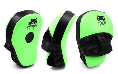 Лапы изогнутые Venum MA-031 (25x19x7 см) зеленый/черный