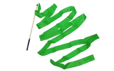 Лента гимнастическая ZLT С-3248 6 м зеленая