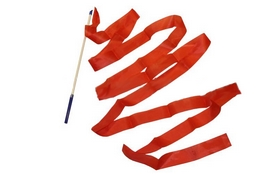 Лента гимнастическая ZLT С-3248 6,3 м красная