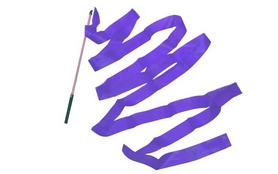 Лента гимнастическая ZLT С-3248 6 м фиолетовая