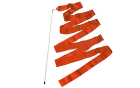 Лента гимнастическая ZLT C-1762 6,8 м красная