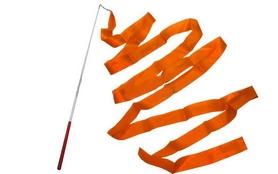 Лента гимнастическая ZLT С-3249 3,5 м оранжевая