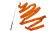 Лента гимнастическая ZLT С-3249 3,5 м оранжевая - фото 1