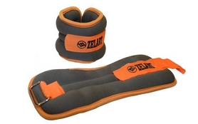 Утяжелители-манжеты для рук ZLT AW-1402-2 2 шт. по 1 кг silver/orange
