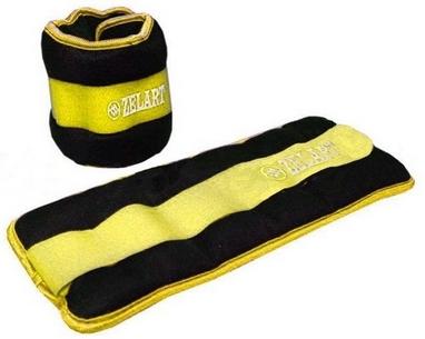 Утяжелители-манжеты 2 шт. по 0,5 кг ZLT FI-2502-1 yellow