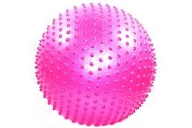 Мяч для фитнеса (фитбол) массажный HMS 55 см с системой антиразрыва розовый