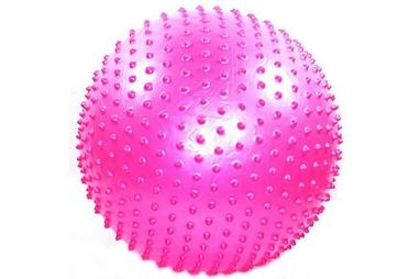 Мяч для фитнеса (фитбол) массажный HMS 65 см с системой антиразрыва розовый