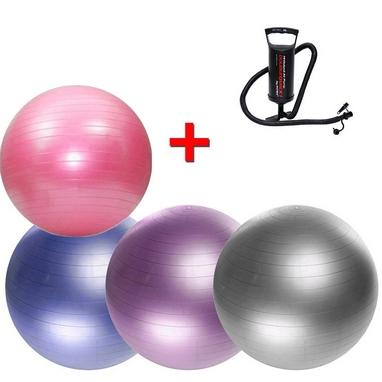 Мяч для фитнеса (фитбол) 55 см HMS + Насос ручной Double Quick Intex 68612