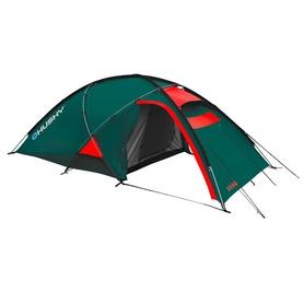 Фото 1 к товару Палатка трехместная Husky Extreme Felen 2-3 зеленая