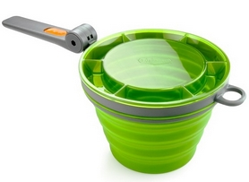 Фото 2 к товару Кружка GSI Outdoors Collapsible Fairshare MUG зеленая