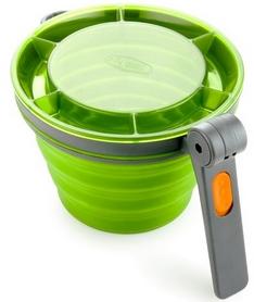 Фото 3 к товару Кружка GSI Outdoors Collapsible Fairshare MUG зеленая