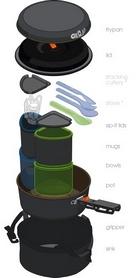 Фото 2 к товару Набор посуды GSI Outdoors Pinnacle Backpacker