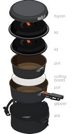 Фото 2 к товару Набор посуды GSI Outdoors Pinnacle Base Camper Small