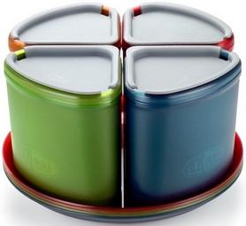 Фото 3 к товару Набор посуды GSI Outdoors Infinity 4 Person Compact Tableset Multi