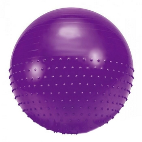 Мяч для фитнеса (фитбол) полумассажный HMS 85 см фиолетовый
